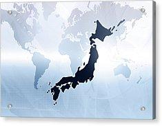 Map Of Japan Acrylic Print by Maciej Frolow