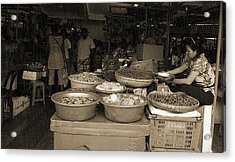 Acrylic Print featuring the photograph Market by Arik S Mintorogo