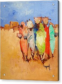 Market Day Acrylic Print by Negoud Dahab