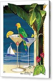 Martini Talk Acrylic Print