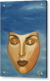 Acrylic Print featuring the painting Mask by Diana Riukas