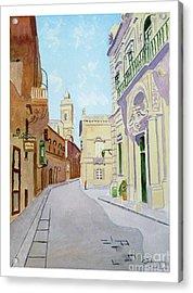 Mdina Streetscape Acrylic Print