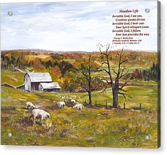 Meadow Life With Poem Acrylic Print