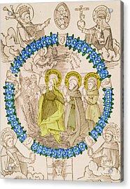 Medieval Plague Card Acrylic Print