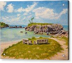 Acrylic Print featuring the painting Memories Tobacco Bay Bermuda by Joe Bergholm