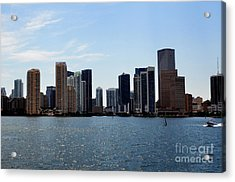 Acrylic Print featuring the photograph Miami Skyline by Pravine Chester