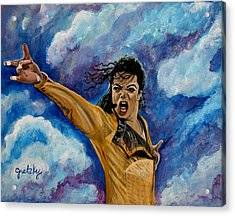 Michael Jackson Acrylic Print by Paintings by Gretzky