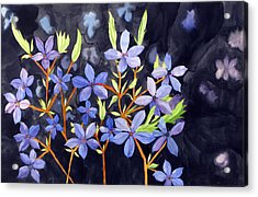 Acrylic Print featuring the painting Midnight Blue by Debi Singer