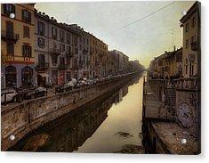 Milan Naviglio Grande Acrylic Print by Joana Kruse