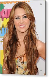 Miley Cyrus At Arrivals Acrylic Print
