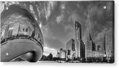 Millennium Park In Black And White Acrylic Print