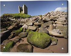 Minard Castle And Rocky Beach Minard Acrylic Print by Trish Punch