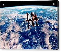 Mir Space Station Acrylic Print by Nasa