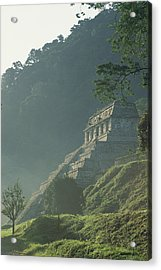 Misty View Of The Temple Acrylic Print by Kenneth Garrett