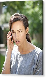 Mobile Phone Use Acrylic Print by