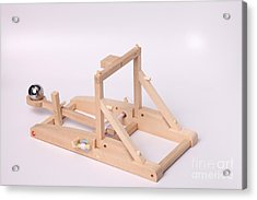 Model Catapult Acrylic Print by Ted Kinsman