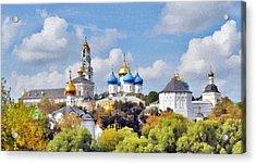 Monastery Panorama  Acrylic Print by Aleksandr Volkov