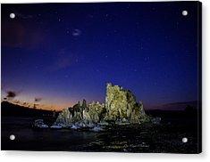 Mono Lake Big Dipper Sky Acrylic Print by La Rae  Roberts