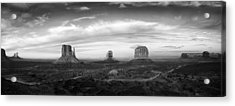 Monument Valley Panorama Acrylic Print by Andrew Soundarajan