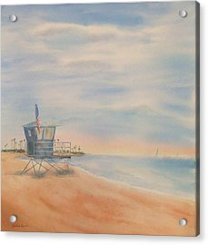 Morning By The Beach Acrylic Print by Debbie Lewis