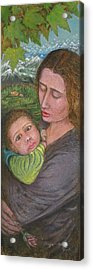 Mother And Child Acrylic Print by Shafiq-ur- Rehman