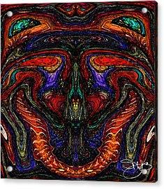 Mother Earth Mother Goddess Acrylic Print by Shy  Blakeman