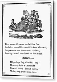 Mother Goose, 1833 Acrylic Print