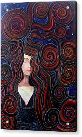 Acrylic Print featuring the painting Mother Night by Monica Furlow
