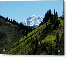 Mount Baker From The Skyline Divide Acrylic Print by Karen Molenaar Terrell
