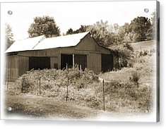 Mountain Barn Acrylic Print by Barry Jones
