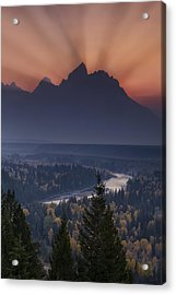 Mountain Sunset Acrylic Print by Andrew Soundarajan