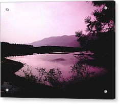 Mountain Twilight Acrylic Print by Ann Powell