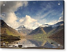 Acrylic Print featuring the photograph Mountains And Lake At Lake District by John Short