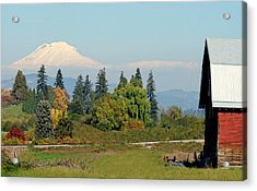 Mt. Adams In The Country Acrylic Print by Athena Mckinzie