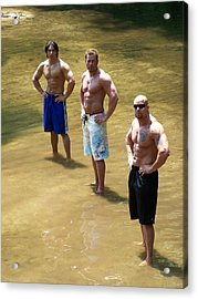 Muscle Trio Acrylic Print by Jake Hartz