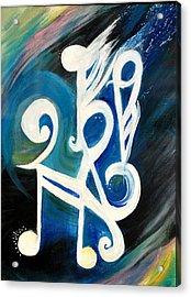Music Firework Acrylic Print by Tifanee  Petaja