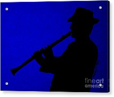 Music Man Acrylic Print by Julie Brugh Riffey