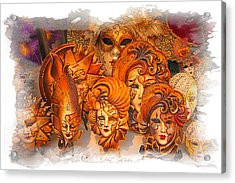 Music Masks Acrylic Print by Judy Deist
