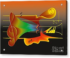 Acrylic Print featuring the digital art Musica Nocturna by Leo Symon