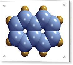 Naphthalene Molecule Acrylic Print by Dr Mark J. Winter