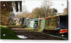 Narrow Boats Acrylic Print