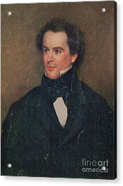 Nathaniel Hawthorne, American Author Acrylic Print by Photo Researchers