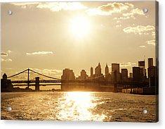 New York City Sunset Acrylic Print by Vivienne Gucwa