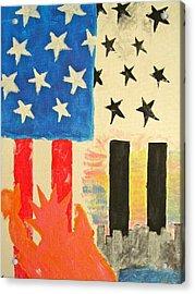 New York Pride Acrylic Print by Hannah Stedman