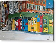 Newsstands Acrylic Print by Wayne Pearce