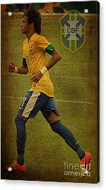 Neymar Junior Acrylic Print by Lee Dos Santos