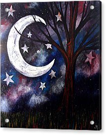 Acrylic Print featuring the painting Night Gazing by Monica Furlow