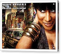 Niki Minaj Acrylic Print by The DigArtisT