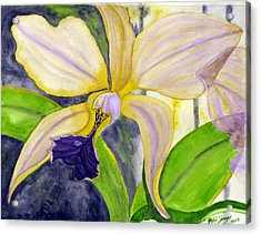 Acrylic Print featuring the painting No Ordinary Orchid by Debi Singer
