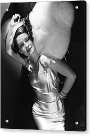 Norma Shearer Acrylic Print by Everett